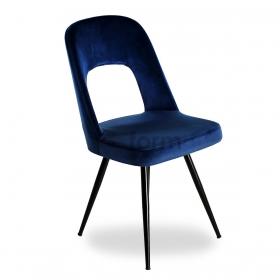 Venüs Kumaş Döşeme Salon Sandalye - Lacivert