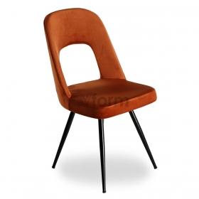 Venüs Kumaş Döşeme Salon Sandalye - Kiremit