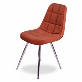 Mars Kumaş Döşeme Salon Sandalye - Kiremit