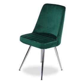 Merkür Kumaş Döşeme Salon Sandalye - Haki yeşil