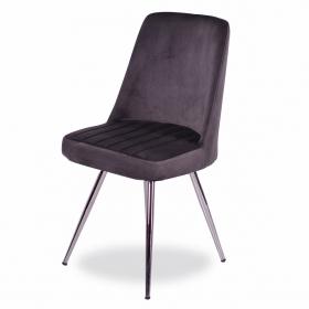 Merkür Kumaş Döşeme Salon Sandalye - Gri