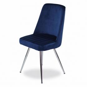Merkür Kumaş Döşeme Salon Sandalye - Lacivert