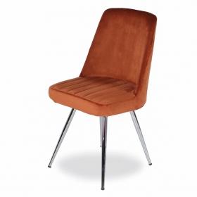 Merkür Kumaş Döşeme Salon Sandalye - Kiremit