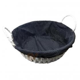 Örtülü Kulplu Yuvarlak Sepet Ekmeklik 27cm BLS-SEPET-03