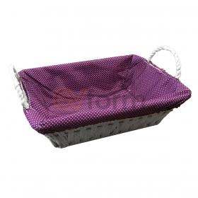 Örtülü Kulplu Dikdörtgen Sepet Ekmeklik 32cm BLS-SEPET-01