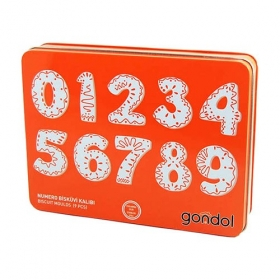 Gondol Bisküvi Kalıbı Numara Şeklinde 10 Parça G-90620