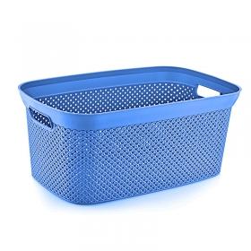 HobbyLife Temiz Çamaşır Sepeti 35L Mavi Diamond DEM-08
