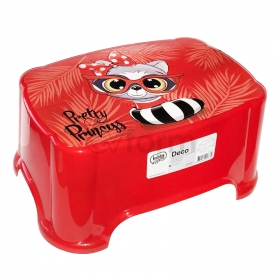 HobbyLife Çocuk Taburesi Kırmızı Resimli 1399-DECO