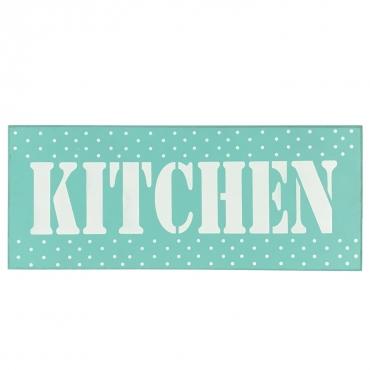 Ücretsiz Kargo Kapı Duvar Süsü Yapışkanlı Hediyelik Ahşap Dekor 40x16cm Kitchen(Mutfak) Yazılı