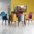 Stork Ahşap Ayaklı 6 Kişilik Mutfak Salon Masa Sandalye Takımı