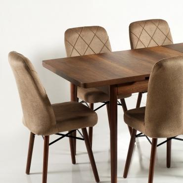 Zümrüt Kumaş Salon Mutfak Sandalye