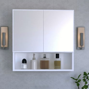 Aynalı Kapaklı Banyo Dolabı