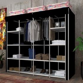 Bez Giysi Dolabı Dev Gardırop 160x160cm - Siyah