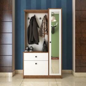 Aynalı Vestiyer Portmanto Askılık Ayakkabılık 100x180cm