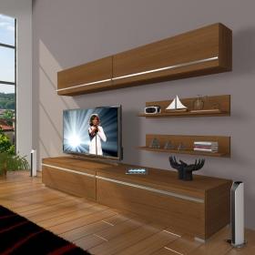 MDF TV Ünitesi Raflı 180x60cm - Ceviz
