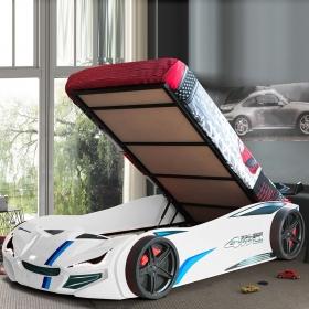 Araba Şekilli Baza Genç Çocuk Odası Yatak