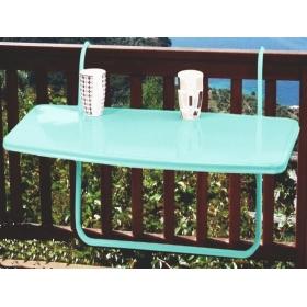 Metal Katlanır Balkon Masası 46x86cm - Su Yeşili