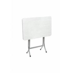 Ceviz Renk Katlanır Masa Metal Ayaklı 60x90cm - Beyaz
