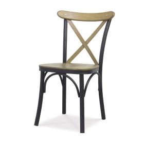 Metal İskelet Ahşap Çapraz Sandalye