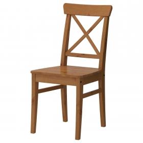 Masif Çam Ağacı Ahşap Sandalye Çapraz