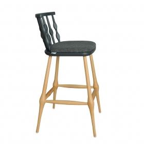 Kayın Ağacı Ahşap Bar Sandalyesi