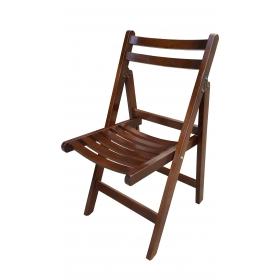 Katlanır Ahşap Sandalye - Ceviz