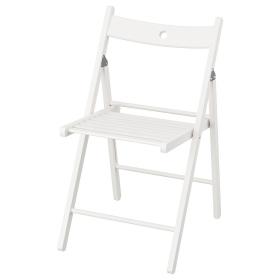 İKEA Masif Kayın Ağacı Katlanır Ahşap Sandalye - Beyaz
