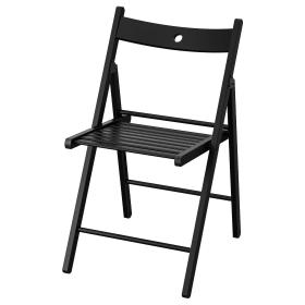 İKEA Masif Kayın Ağacı Katlanır Ahşap Sandalye - Siyah