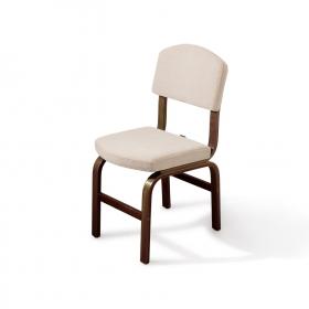 2 li Kumaş Ahşap Sandalye - Beyaz