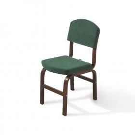 2 li Kumaş Ahşap Sandalye - Haki yeşil