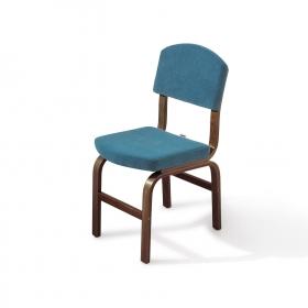 2 li Kumaş Ahşap Sandalye - Mavi