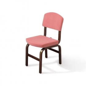 2 li Kumaş Ahşap Sandalye - Pembe