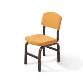 2 li Kumaş Ahşap Sandalye - Sarı