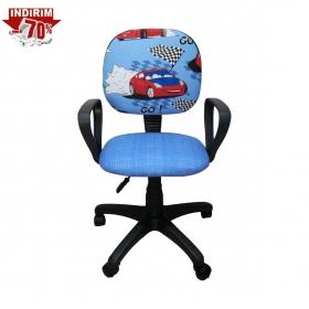 Amartisörlü Tekerli Çalışma Sandalyesi Çocuk - Mavi