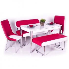 Açılır Yemek Masası ve 4 Sandalye Mutfak Seti