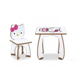 HelloKitty Çocuk Masa Sandalye Takımı Aktivite Masası - Pembe