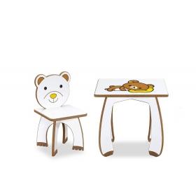 HelloKitty Çocuk Masa Sandalye Takımı Aktivite Masası - Kahve