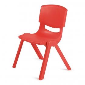 3-7 Yaş Polipropilen Plastik Çocuk Sandalyesi - Kırmızı