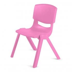3-7 Yaş Polipropilen Plastik Çocuk Sandalyesi - Pembe