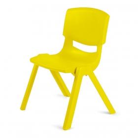 3-7 Yaş Polipropilen Plastik Çocuk Sandalyesi - Sarı