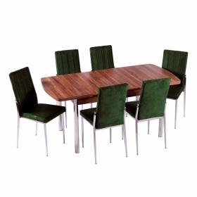 İnci 6 Kişilik Açılır Yemek Masa Sandalye Takımı