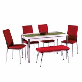 Favorite Hasır Desenli Banklı Mutfak Sandalye Masa Takımı