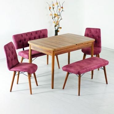 Ra Banklı Masa Takımı Açılır Mutfak Masa Seti
