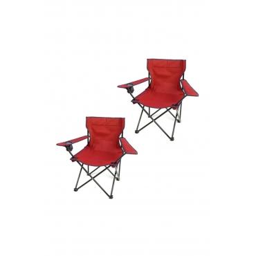 Evform Kamp Sandalyesi Katlanır Sandalye Bahçe Koltuğu Piknik Plaj Balkon Sandalyesi 2 Adet