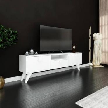 3 Kapaklı TV Ünitesi 140 cm Desen Seçenekli