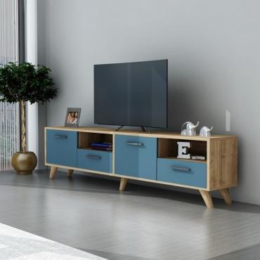 4 Dolaplı 2 Bölmeli Kullanışlı TV Ünitesi 150cm