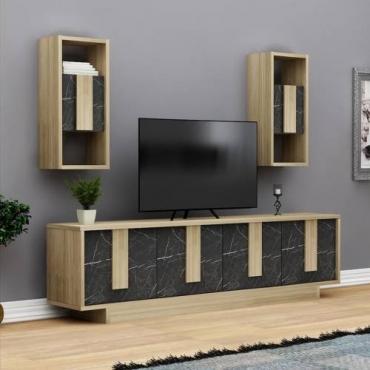 Raflı Dolaplı Televizyon Ünitesi 150cm