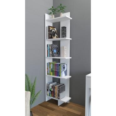 Köşe Uzun Kitaplık 5 li Raf 170cm
