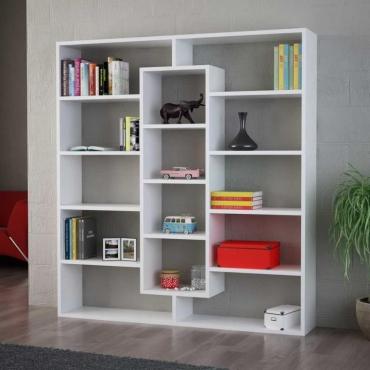 14 Raflı Kullanışlı Kitaplık 135cm
