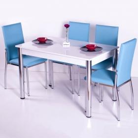 Favorite Mutfak 4 Sandalye Masa Takımı - Turkuaz